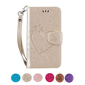 cheap iPhone Cases-Case For Apple iPhone 11 11 Pro 11 Pro Max X Max Xr Xs X 8 Plus 8 7 Plus 7 6S Plus 6S SE 5S 5 Flip / Embossed / Pattern Full Body Cases Heart PU Leather