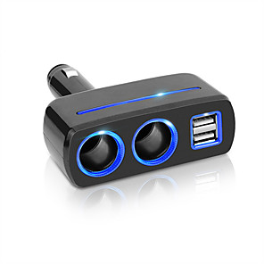 cheap GPS Tracking Devices-Car Cigarette Lighter Splitter Socket Plug USB Charger