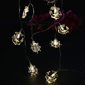 cheap LED String Lights-1.5m String Lights 10 LEDs 1 set Warm White Decorative AA Batteries Powered
