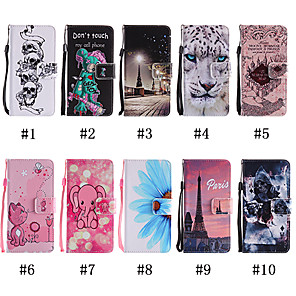 cheap Other Phone Case-Case For LG Stylo 2 / LS775 / LG Stylo 4 Pattern / Flip / with Stand Full Body Cases Animal / Skull / Cat Soft PU Leather for LG K7 / LG K10 / LG Stylo 4/Q Stylus / LG X Power / LG LS775/Stylo 2