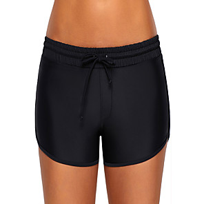cheap Wetsuits, Diving Suits & Rash Guard Shirts-Women's Swim Shorts Elastane Board Shorts Breathable Swimming Beach Water Sports Solid Colored Summer