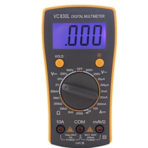 Недорогие Цифровые мультиметры и осциллографы-Профессиональный электрический ручной AC DC ЖК-дисплей тестер метр цифровой мультиметр мультиметр амперметр multitester