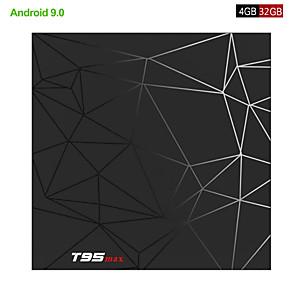 cheap TV Boxes-Android 9.0 TV Box 4GB 32GB T95 Max Smart TV BOX Allwinner Quad Core 6K HDR 2.4GHz Wifi Google Player  Set Top Box