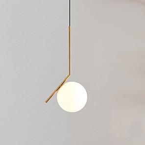 cheap Indoor Wall Lights-1-Light 35 cm Adjustable Pendant Light Metal Glass Cylinder Electroplated Artistic / LED 110-120V / 220-240V