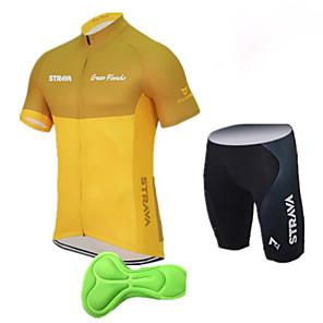 cheap Cycling Jersey & Shorts / Pants Sets-Fastcute Boys' Girls' Short Sleeve Cycling Jersey with Shorts - Kid's Black / Red Black / Yellow Black Bike Clothing Suit Breathable 3D Pad Quick Dry Moisture Wicking Sports Solid Color Mountain Bike