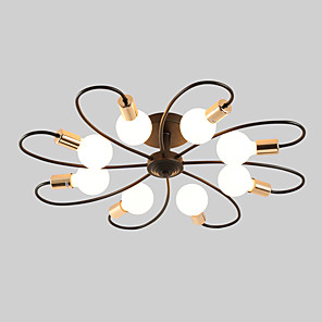 cheap Cluster Design-JSGYlights 8-Light 82 cm New Design Flush Mount Lights Metal Sputnik Painted Finishes Country / Modern 110-120V / 220-240V / E26 / E27