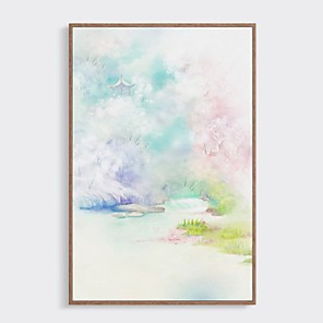 cheap Framed Arts-Framed Oil Painting - Abstract Wood Oil Painting Wall Art