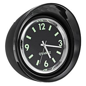 cheap Vehicle Tire Gauges-X65 Mini Luminous Car Mechanics Quartz Clock Noctilucent Watch Digital Pointer Dashboard Clock - Black