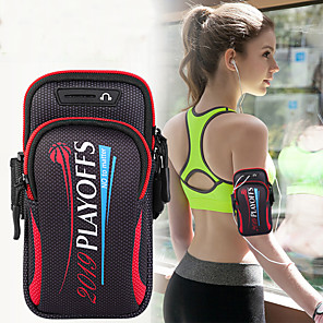 cheap OPPO Case-Unisex Bag Sports Running bag jogging Phone Case gym with holder bag mobile phone key bag 6.4 inch