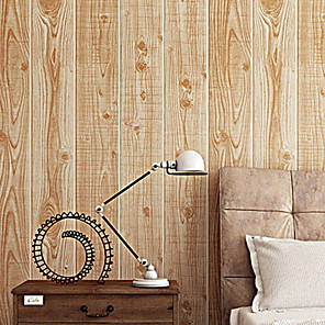 cheap Wall Stickers-Wallpaper Nonwoven Wall Covering - Adhesive required Wood