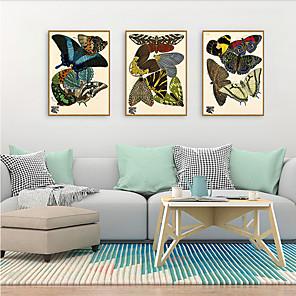 cheap Framed Arts-Framed Art Print Framed Set - Animals PS Illustration Wall Art