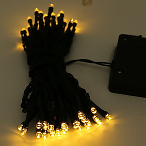 cheap LED String Lights-10m String Lights Outdoor String Lights 100 LEDs 1 set Warm White Solar Decorative Solar Powered