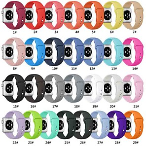 cheap Smartwatch Bands-Smart Watch Band for Apple Watch Series 5/4/3/2/1 Apple Sport Band Silicone Wrist Strap Replacement Bands Compatible with Apple Watch Band 38mm 40mm 42mm 44mm Soft Silicone