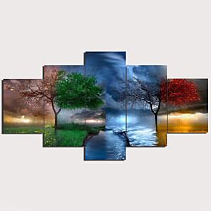 cheap Prints-Print Stretched Canvas Prints - Landscape Traditional Modern Five Panels Art Prints