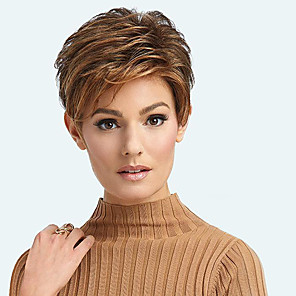 cheap Synthetic Trendy Wigs-Synthetic Wig Curly Side Part Wig Short Brown / Burgundy Synthetic Hair 12 inch Women's Fashionable Design Women Synthetic Brown