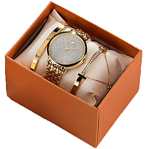 cheap Bathroom Sink Faucets-Women's Quartz Watches New Arrival Fashion Gold Rose Gold Stainless Steel Japanese Quartz Rose Gold Gold Chronograph Cute New Design 30 m 1 set Analog Two Years Battery Life