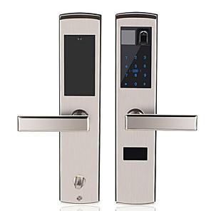cheap Door Locks-Factory OEM RX0834 Aluminium alloy lock / Fingerprint Lock / Remote Lock Smart Home Security System Fingerprint unlocking / Password unlocking Home / Office Security Door (Unlocking Mode Fingerprint