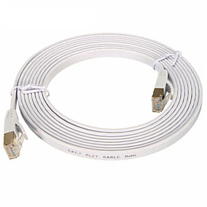 cheap Ethernet Cable-Ethernet Cable CAT7 Network Cable Flat Cable Patch Cord 3M
