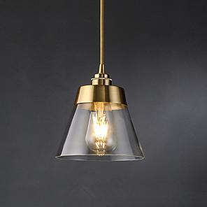 cheap Pendant Lights-1-Light 16.5 cm Pendant Light Glass Glass Cone Electroplated Modern 110-120V / 220-240V
