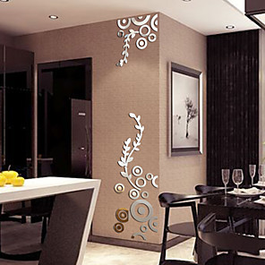 cheap Wall Stickers-Floral / Botanical / 3D Wall Stickers 3D Wall Stickers / Mirror Wall Stickers Decorative Wall Stickers, Special Material Home Decoration Wall Decal Wall Decoration 1pc / Washable