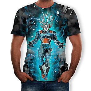 cheap Everyday Cosplay Anime Hoodies & T-Shirts-Inspired by Dragon Ball Cosplay Anime Cosplay Costumes Japanese Anime Action Figures 3D T-shirt For Men's