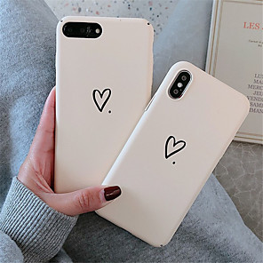 cheap iPhone Cases-Case For Apple iPhone XR / iPhone XS Max Pattern  Back Cover Heart Hard PC for soft TPU for iPhone X XS 8 8PLUS 7 7PLUS 6 6S 6PLUS 6S PLUS