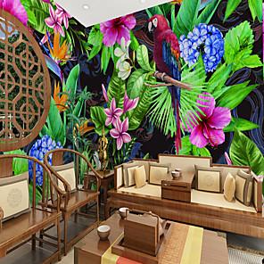 cheap Wallpaper-Flower and Bird Rainforest  Suitable for TV Background Wall Wallpaper Murals Living Room Cafe Restaurant Bedroom Office XXXL(448*280cm)