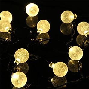 cheap LED String Lights-1 set  LED Lantern Solar Light String 5 Meter 20 Light Bubble Ball Outdoor Water Light