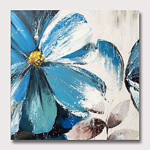 cheap Abstract Paintings-Oil Painting Hand Painted Abstract Floral / Botanical Classic Modern Rolled Canvas Rolled Without Frame