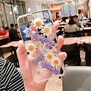 cheap iPhone Cases-Case For Apple iPhone XR / iPhone XS Max / iPhone X Transparent / Pattern Back Cover Transparent / Flower Soft Silicone