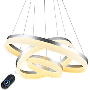 povoljno Dizajn kruga-80 cm Zatamnjen / LED / Zatamnjen daljinskim upravljačem Privjesak Svjetla Metal Acrylic Slikano završi Suvremena suvremena / Tradicionalni / klasični / Zemlja 110-120V / 220-240V