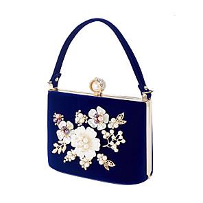 cheap Clutches & Evening Bags-Women's Crystals / Flower Velvet / Alloy Evening Bag Geometric Pattern Black / Red / Purple / Fall & Winter