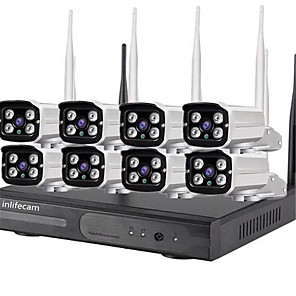 cheap Indoor IP Network Cameras-8CH 960P NVR Kit 8CH Wireless Camera System  960p 8CH Wifi NVR Kit Bullet IP CCTV Camera