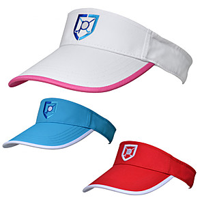cheap Golf Clothing-Visor White Red Blue UV Resistant Breathability Women's Graphic Cotton Polyester