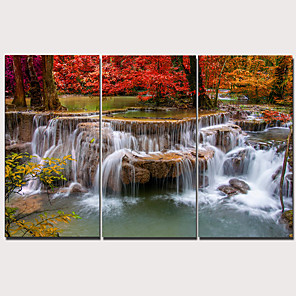 cheap Prints-Print Stretched Canvas Prints - Landscape Traditional Modern Three Panels Art Prints
