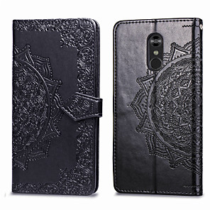 cheap OPPO Case-Case For LG LG Stylo 4 Card Holder / Flip Full Body Cases Solid Colored Hard PU Leather for LG Stylo 4