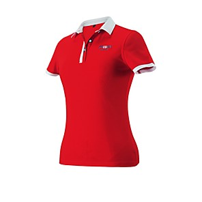 cheap Golf Clothing-Women's Golf Workout Tee / T-shirt Polos Shirt Solid Color Lightweight Breathable Soft Spring Summer Fall Athleisure Outdoor / Cotton / Micro-elastic