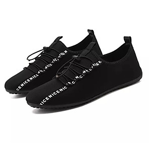 cheap Men's Sneakers-Men's Comfort Shoes Elastic Fabric Summer Casual Sneakers Non-slipping Black / Red