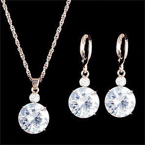 cheap Jewelry Sets-Women's Hoop Earrings Necklace Vintage Style Dainty Earrings Jewelry Gold / Silver For Party Daily 1 set