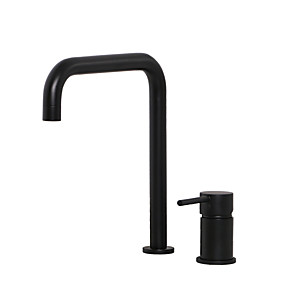 cheap Bathroom Sink Faucets-Unique Bathroom Sink Faucet - Widespread Black Widespread Single Handle Two HolesBath Taps