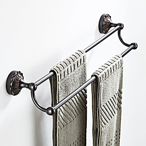 cheap Amplifiers & Effects-Towel Bar New Design Antique / Country Brass 1pc - Bathroom / Hotel bath Double / 2-tower bar Wall Mounted