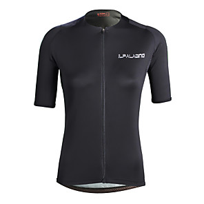 cheap Cycling Jerseys-ILPALADINO Women's Short Sleeve Cycling Jersey Elastane Black Bike Jersey Top Road Bike Cycling UV Resistant Quick Dry Moisture Wicking Sports Clothing Apparel