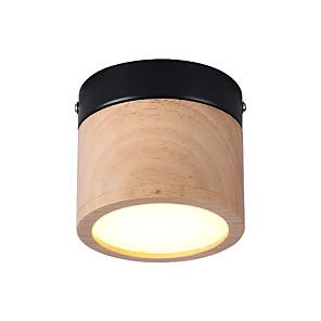 cheap Spot Lights-1-Light Ecolight 10 cm Mini Style / Creative / LED Flush Mount Lights Metal Wood / Bamboo Circle / Geometrical / Mini Wood Vintage / Retro 110-120V / 220-240V / FCC / VDE