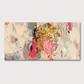 cheap Wall Stickers-Oil Painting Hand Painted - Abstract Abstract Landscape Modern Stretched Canvas