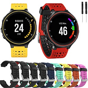 cheap Smartwatch Bands-Watch Band for Forerunner 235 / Forerunner 230 / Forerunner 220 Garmin Sport Band Silicone Wrist Strap
