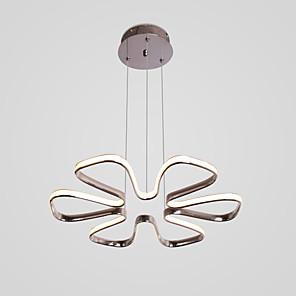 povoljno Dizajn kruga-Vanjski kromirani luster od 6 latica u obliku cvijeta za dnevni boravak / blagovaonicu