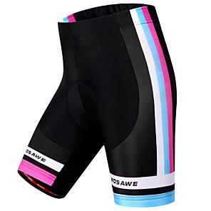 cheap Cycling Jerseys-WOSAWE Women's Cycling Padded Shorts Bike Shorts Padded Shorts / Chamois Pants Windproof Breathable 3D Pad Sports Stripes Polyester Spandex Black Mountain Bike MTB Road Bike Cycling Clothing Apparel