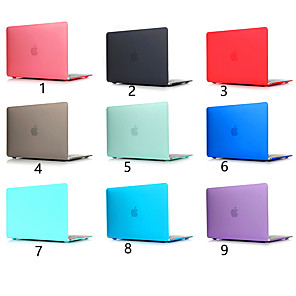 cheap Mac Accessories-Scrub Solid Color For MacBook Pro Air 11-15 Computer Case 2018 2017 2016 Release A1989 / A1706 / A1708 With Touch Strip PVC Hard Shell