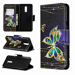 cheap Other Phone Case-Case For LG LG Stylo 4 / LG Stylo 5 / LG K10 2018 Wallet / Shockproof / with Stand Full Body Cases Butterfly Hard PU Leather