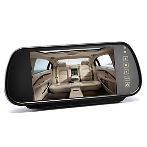 cheap Car Rear View Camera-7 Inch 12-24V Rearview Mirror Monitor - Touch Button Control 43 Ratio 480x234